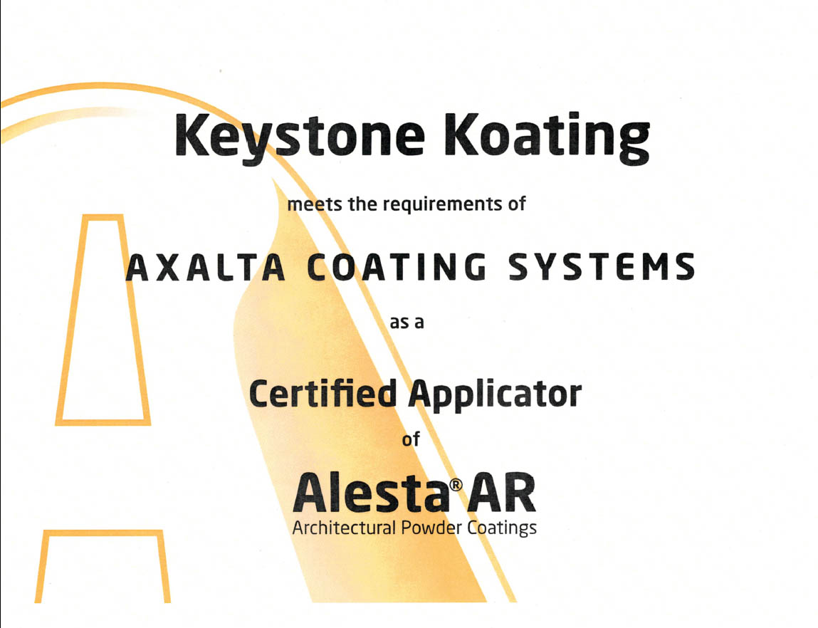 Certifications Verifications Keystone Koating