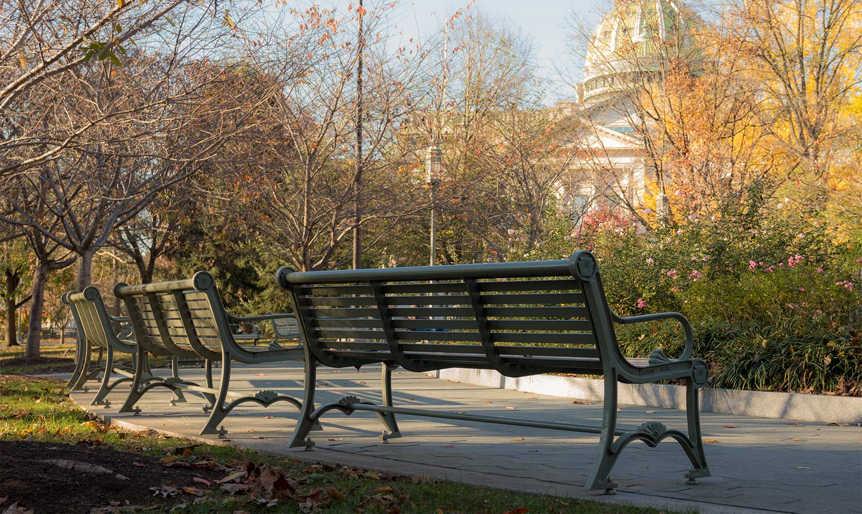 Custom Dumor Bench in Pennsylvania State Capital